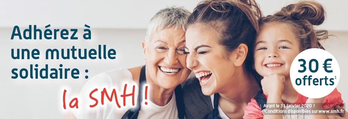 offre adhésion mutuelle SMH, offre mutuelle santé, complémentaire santé